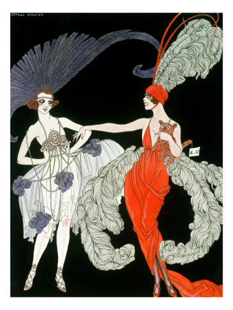 The Purchase Premium Giclee Print by Georges Barbier