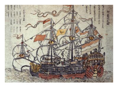 A Dutch Ship Premium Giclee Print by  Japanese School