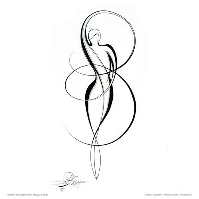 Dancing Silouhette I Posters by Alijan Alijanpour
