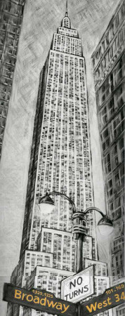 Empire State Bldg Print by L. Cartier