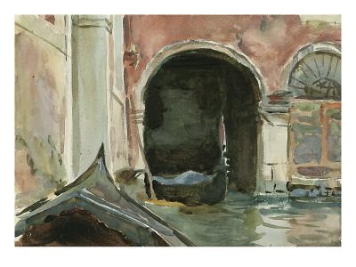 Venetian Canal Premium Giclee Print by John Singer Sargent
