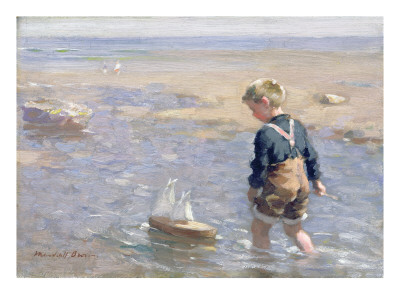The Toy Boat Premium Giclee Print by William Marshall Brown