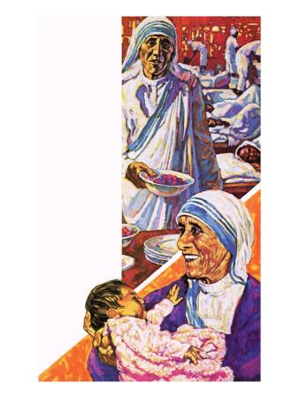 Mother Teresa Premium Giclee Print by  Green