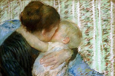 A Goodnight Hug Premium Giclee Print by Mary Cassatt