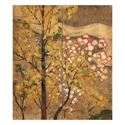 Autumn Tree Giclee Print by  Japanese School