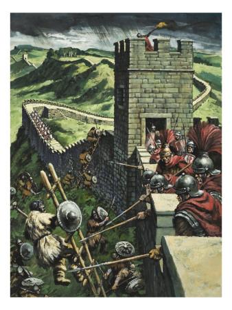 Hadrian's Wall Premium Giclee Print by  Green