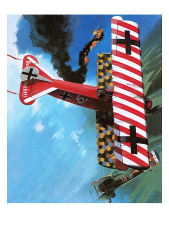 Fokker D Vii Premium Giclee Print by Wilf Hardy