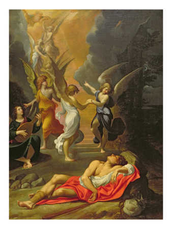 Jacob's Dream Premium Giclee Print by Ludovico Carracci