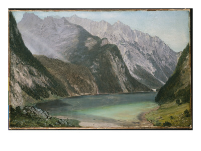 Alpine Lake reproduction procédé giclée