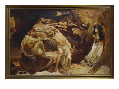 Samson and Delilah Premium Giclee Print by Solomon Joseph Solomon