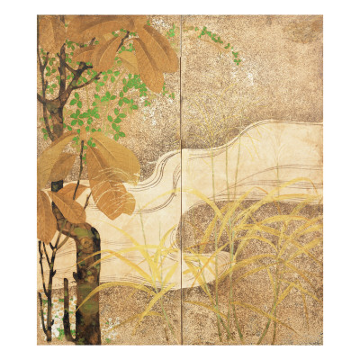 Flowing River Giclee Print by  Japanese School