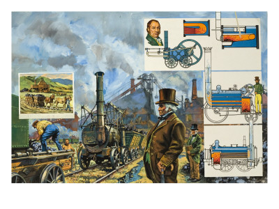 Puffing Billy Premium Giclee Print by  Green