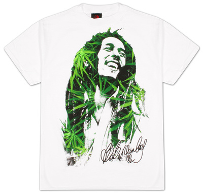 Bob Marley - Leaves Dreads T-Shirt