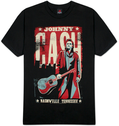 Johnny Cash - Nashville Poster T-Shirt