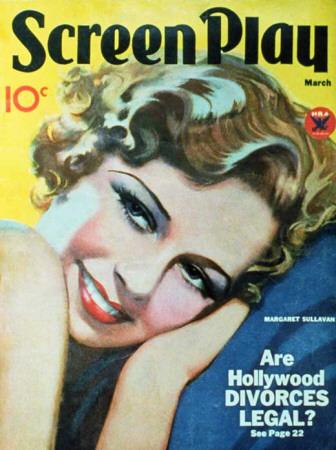 Margaret Sullavan - Screenplay Magazine Cover 1930's Masterprint