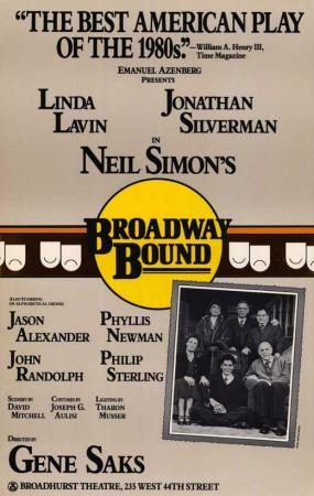 Broadway Bound - Broadway Poster , 1986 Masterprint
