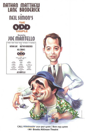 The Odd Couple - Broadway Poster Masterprint