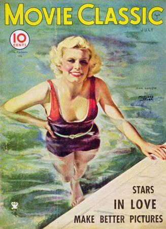 Jean Harlow - Movie Classic Magazine Cover 1930's Masterprint