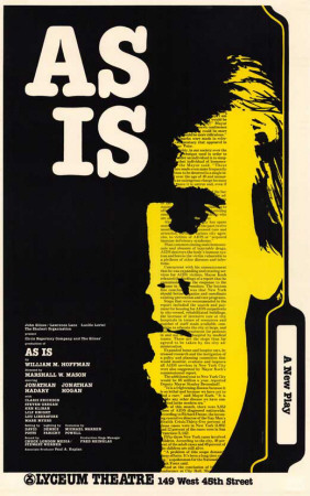 As Is - Broadway Poster , 1985 Masterprint