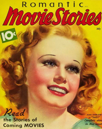 Jean Harlow - Romantic Movie Stories Magazine Cover 1930's Masterdruck