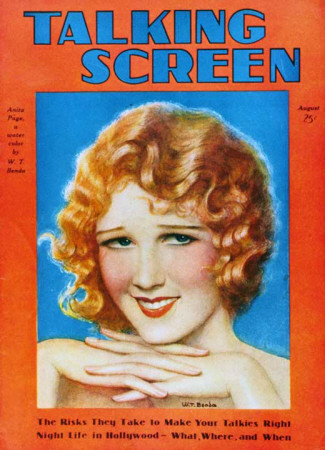 Anita Page - Talking Screen Magazine Cover 1930's Masterprint