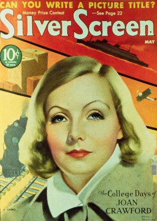 Greta Garbo - Silver Screen Magazine Cover 1940's Masterprint
