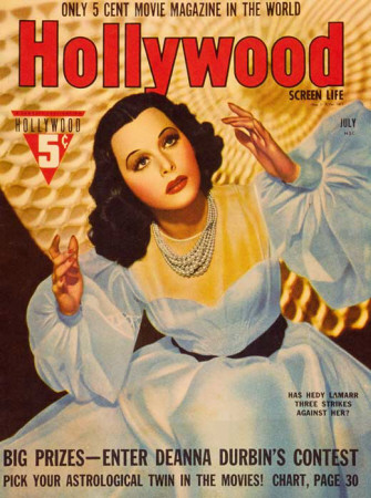 Hedy Lamarr - Hollywood Magazine Cover 1930's Masterdruck
