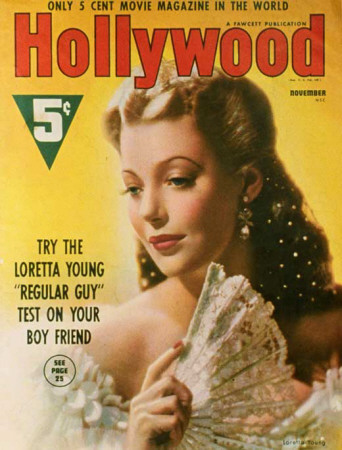 Young, Loretta - Hollywood Magazine Cover 1930's Masterprint