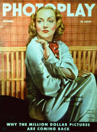 Carole Lombard - Photoplay Magazine Cover 1930's Masterprint!