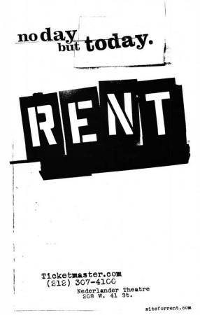 Rent - Broadway Poster Masterprint