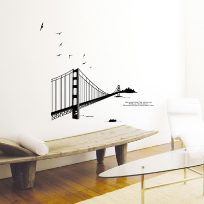 Golden Gate Bridge Silhouette Wall Decal