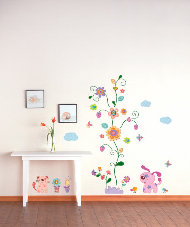 Patches Pets and Flowers Wall Decal