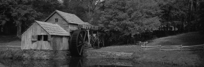 Facade of a Mill, Malbry Mill, Blue Ridge Parkway, North Carolina, USA Wall Decal by  Panoramic Images