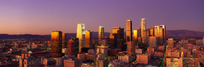 Skyline at Sunset, Los Angeles, California, USA Wallstickers