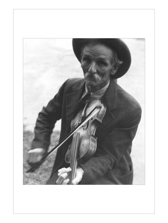 Fiddlin' Bill Henseley, Mountain Fiddler Wall Decal by Ben Shahn