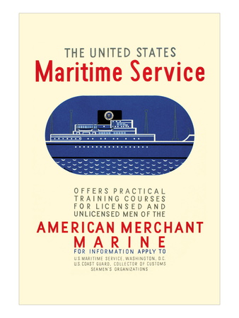 The United States Maritime Service, c.1937 Wall Decal by Leslie Bryan Burroughs