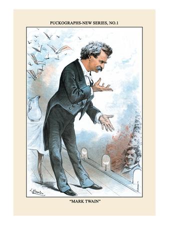 Puck Magazine: Puckographs, Mark Twain Wall Decal by Joseph Keppler