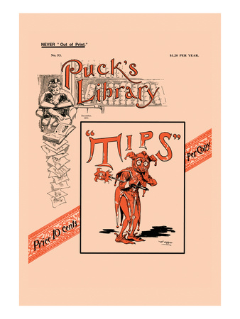 Puck's Library: Tips Wall Decal by Frederick Burr Opper
