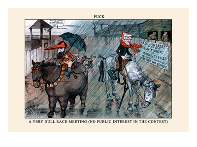 Puck Magazine: A Very Dull Race-Meeting Wall Decal by Frederick Burr Opper