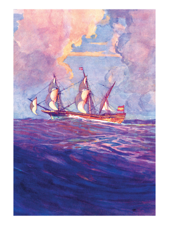 Spanish Treasure Frigate Wall Decal by Gregory Robinson