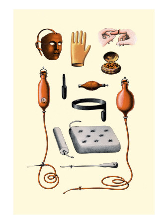 Assorted Rubber Medical Accessories Wall Decal by Jules Porges