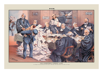 Puck Magazine: Our Overworked Supreme Court Wall Decal by Joseph Keppler