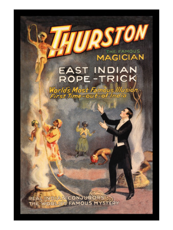 East Indian Rope Trick: Thurston the Famous Magician Wall Decal