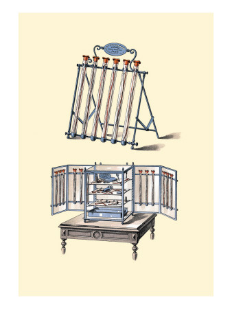 Supports for Tubes and Equipment Wall Decal by Jules Porges