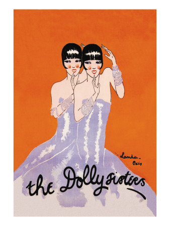 Dolly Sisters Wall Decal by Julien Landa