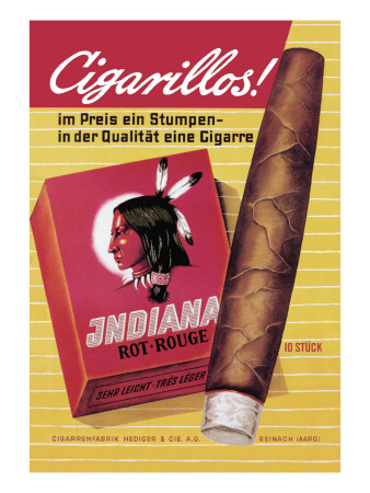 Indiana Cigarillos Wall Decal