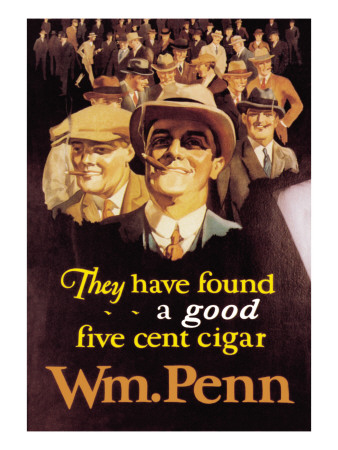 William Penn Cigars Wall Decal