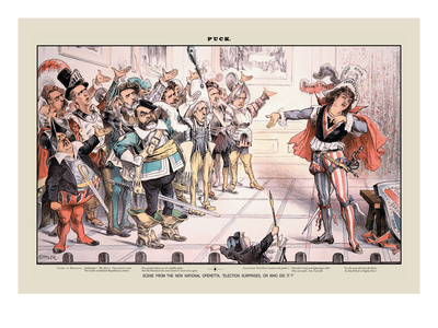 Puck Magazine: Scene from the New National Operetta Wall Decal by Joseph Keppler