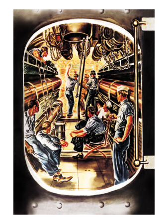 Torpedo Room Wall Decal by George Ghrieber