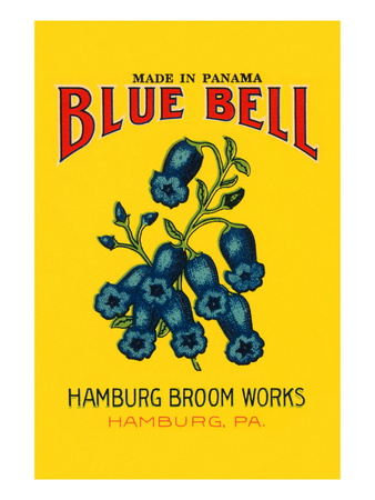 Blue Bell Broom Label Wall Decal